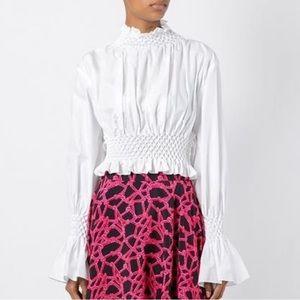 Authentic Kenzo white blouse high neckline